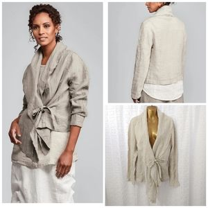 FLAX lagenlook 💯 linen jacket size small